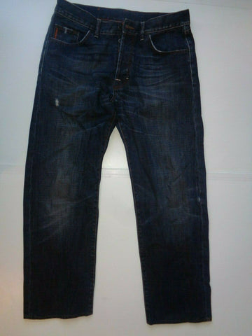 "Hugo Boss dark blue jeans Waist 33"" x Leg 30"" mens HB1-Classic Clothing Crib"