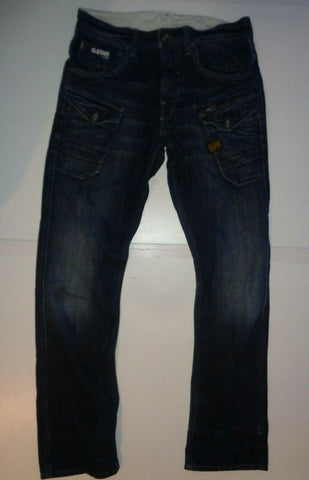 "G-Star dark blue jeans Waist 30"" x Leg 32"" mens Nattacc Straight-Classic Clothing Crib"