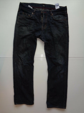"Hugo Boss Kansas dirty dark blue jeans Waist 36"" x Leg 32"" mens special finishin-Classic Clothing Crib"