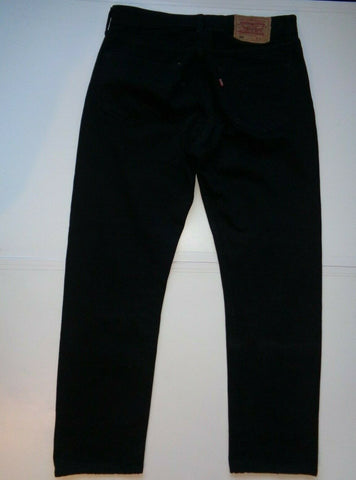"Levi's Strauss 501 black denim jeans Waist 32"" x Leg 32"" mens made in UK-Classic Clothing Crib"