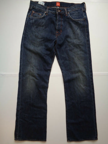 "Hugo Boss HB67 indigo dark blue jeans Waist 32"" x Leg 32"" mens-Classic Clothing Crib"