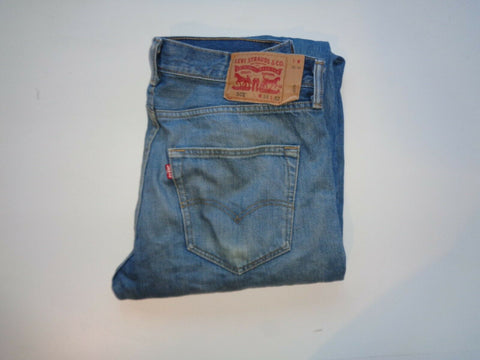 "Levi's Strauss 501 blue denim jeans Waist 34"" x Leg 32"" mens rips distress-Classic Clothing Crib"
