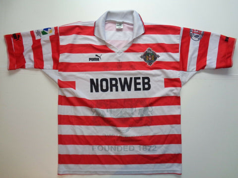 Vintage Wigan Warriors 1995-96 home rugby league shirt, xl mens jersey-Classic Clothing Crib