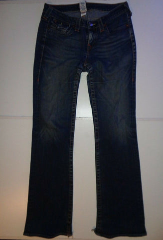 "True Religion Becky dark blue jeans Waist 32"" x Leg 34"" Ladies-Classic Clothing Crib"