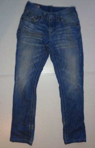 "True Religion Ricky blue jeans Waist 29"" x Leg 32"" ladies-Classic Clothing Crib"