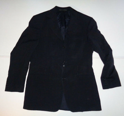 Hugo Boss Da Vinci Lucca 3 button black wool suit size 46R-Classic Clothing Crib