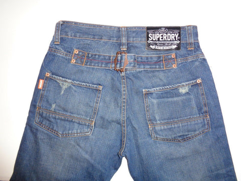 "Superdry dark blue denim jeans Waist 30"" x Leg 32"" mens-Classic Clothing Crib"