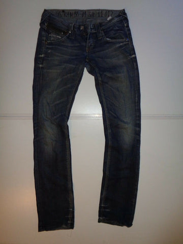 "G-Star raw dark blue jeans Waist 27"" x Leg 32"" LadiesSTUDS STRAIGHT WMN-Classic Clothing Crib"