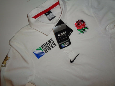 England 2011 rugby world cup shirt, small mens jersey, NEW-Classic Clothing Crib
