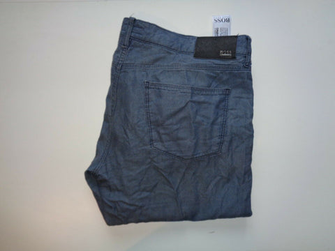 "Hugo Boss Iowa1-10 grey jeans Waist 38"" x Leg 34"" mens finest Italian fabric-Classic Clothing Crib"