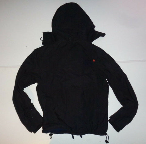 Superdry Mens black windcheater jacket small MS5JZ009S fleece lined-Classic Clothing Crib