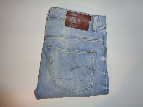 "G-Star light blue jeans Waist 34"" x Leg 32"" mens 3301 straight-Classic Clothing Crib"