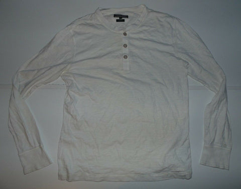 Mens Tommy Hilfiger white long sleeeves tshirt / sweatshirt XL vintage fit crew-Classic Clothing Crib