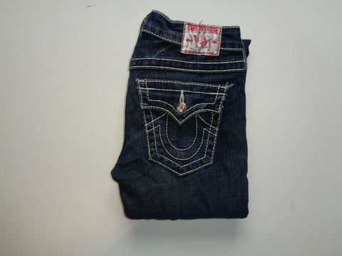 "True Religion Disco Billy Big T dark blue jeans Waist 27"" x Leg 31"" ladies-Classic Clothing Crib"