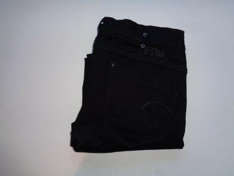 "G-Star Raw black jeans Waist 32"" x Leg 30"" ladies Midge Straight WMN NEW.-Classic Clothing Crib"