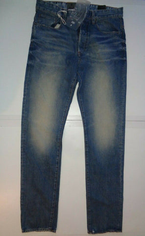 "G-Star blue light aged jeans Waist 32"" x Leg 34"" mens 3301 tapered Rend Denim-Classic Clothing Crib"