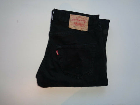 "Levi's Strauss 501 black denim jeans Waist 32"" x Leg 32"" mens straight fit-Classic Clothing Crib"