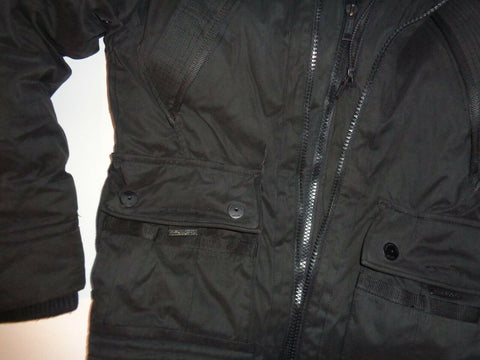 SUPERDRY black heavy winter fleece parka coat, mens size XXL-Classic Clothing Crib