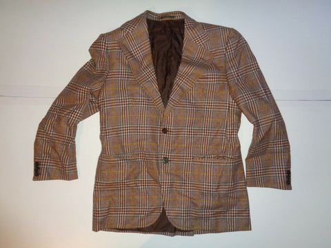 BURBERRYS SCOTTISH SAXONY wool brown blazer jacket, size 50 short vg-Classic Clothing Crib