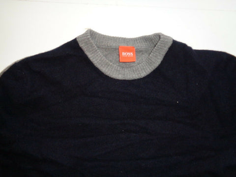 Hugo Boss Ozone black & grey virgin wool jumper, large mens-Classic Clothing Crib