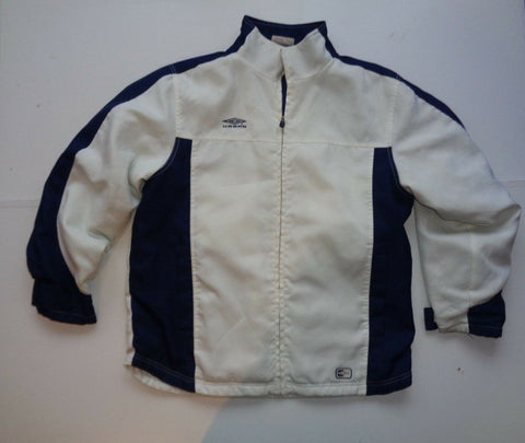 Umbro white nylon jacket large mens coat-Classic Clothing Crib
