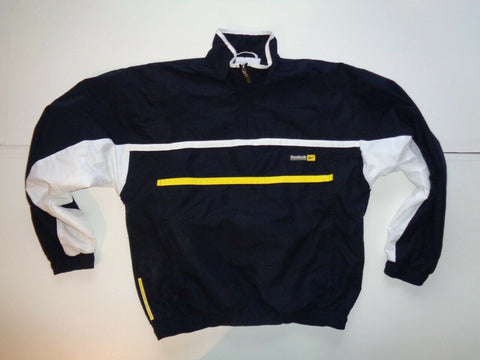 "Reebok vintage 90's black pullover track jacket, small mens casuals 36""-Classic Clothing Crib"