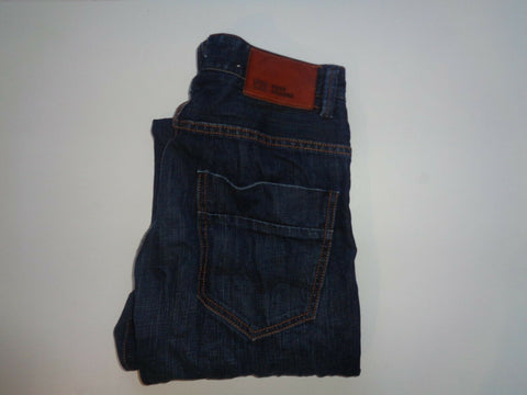 "Hugo Boss dark blue jeans Waist 30"" x Leg 32"" mens Orange49 Downtown comfort-Classic Clothing Crib"