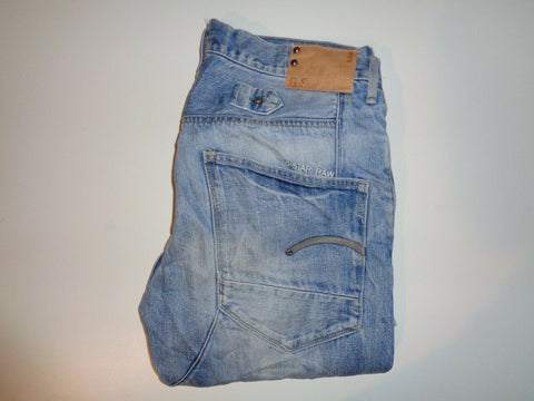 "G-Star Raw light blue jeans Waist 32"" x Leg 30"" mens-Classic Clothing Crib"