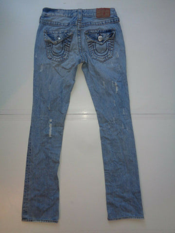 "True Religion Billy Big T light blue jeans Waist 26"" x Leg 33"" ladies-Classic Clothing Crib"