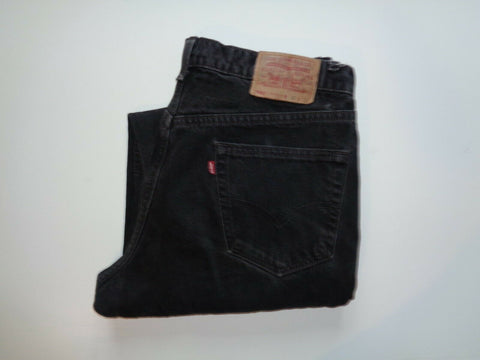 "Levi's Strauss 550 faded black denim jeans Waist 36"" x Leg 32"" mens made in USA-Classic Clothing Crib"