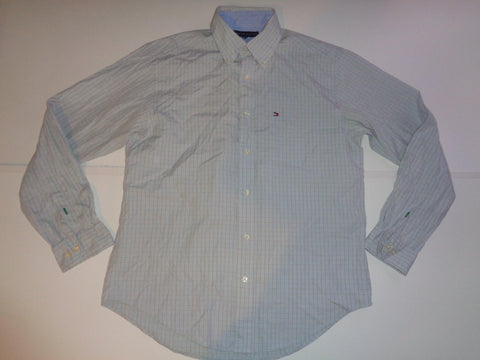Tommy Hilfiger blue checks shirt - medium mens - S5490