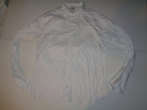 "Ben Sherman white shirt 18"" / 46 mens Tailored slim fit - S5544"