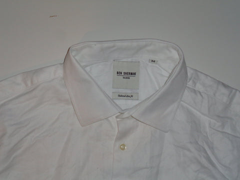 "Ben Sherman white shirt 18"" / 46 mens Tailored slim fit - S5544-Classic Clothing Crib"