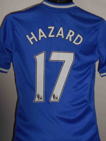 Chelsea 2013-2014 home football shirt Large boys. HAZARD 17 MA403-Classic Clothing Crib