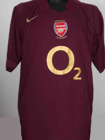 Arsenal 2005-2006 Final Highbury classic home football shirt XL Mens MA437-Classic Clothing Crib
