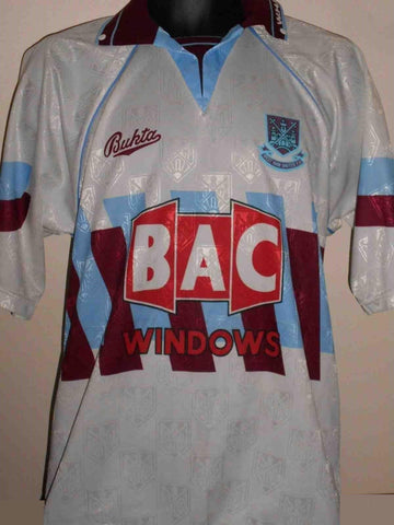 West Ham United 1991-02 Bukta BAC Windows 3rd Shirt medium men's 38 - 40 MA453-Classic Clothing Crib