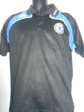 Chelsea Adidas Champions League polo shirt, Large mens. MA54-Classic Clothing Crib