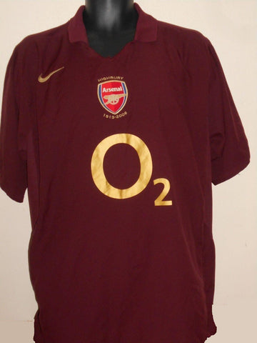 ARSENAL 2005/2006 HIGHBURY HOME FOOTBALL SHIRT JERSEY xl men's MA625