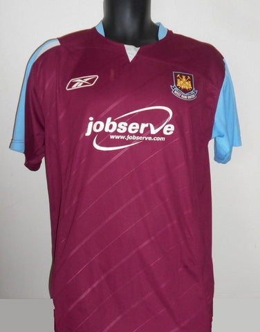 West Ham United Home Rebook Shirt (2006/2007) medium men's MA646-Classic Clothing Crib