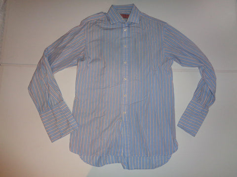 "Thomas Pink blue stripes shirt 15"" / 33.5 mens - S5510"