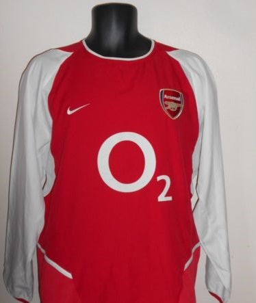 Arsenal 2002-2004 Invincibles long sleeves home football shirt Medium Mens BNWOT MA714