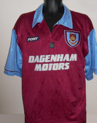 West Ham United Home Shirt (1995/1997) large men's MA719-Classic Clothing Crib
