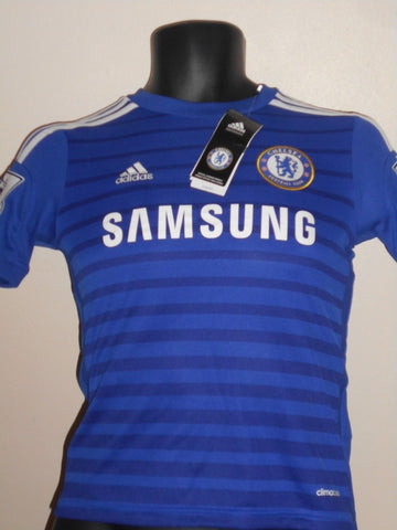 Chelsea 2014-2015 home football shirt small boys. HAZARD 17 BNWT MA742-Classic Clothing Crib