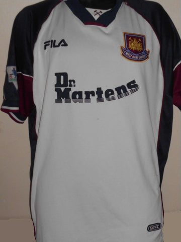 West Ham United Away Dr. Martens Shirt (1999/2001) xl men's MA745-Classic Clothing Crib
