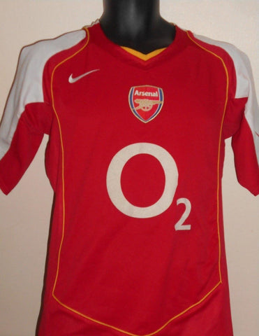 Arsenal 2004-2005 home football shirt Small Mens MA749-Classic Clothing Crib