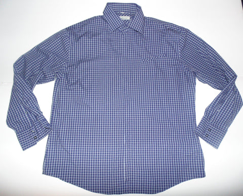 Ben Sherman purple checks shirt - xl mens, size 4 - S5572-Classic Clothing Crib