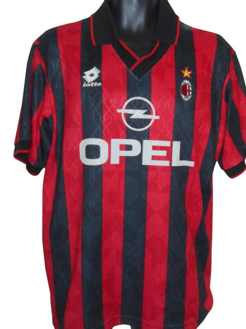 AC Milan 1995-96 home shirt Large Mens #S806-Classic Clothing Crib