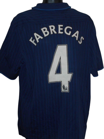 Arsenal 2009-10 away shirt xl mens FABREGAS 4 #S803