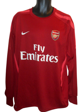 Arsenal training long sleeves shirt xl mens #S889