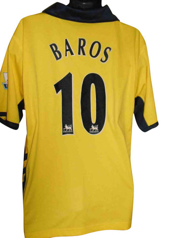 Aston Villa 2005-06 away shirt Large mens BAROS 10 #S500.